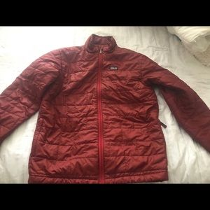 Patagonia Boy's XL Red Down Coat